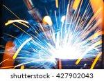 the welding robots represent... | Shutterstock . vector #427902043