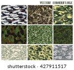 vector camouflage set   Shutterstock .eps vector #427911517