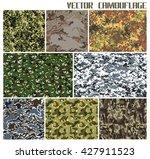 vector camouflage set   Shutterstock .eps vector #427911523