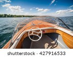 boat on lake. | Shutterstock . vector #427916533