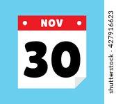 calendar icon flat november 30