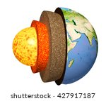 structure of the earth. model... | Shutterstock . vector #427917187