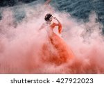 Lady In A Luxury Lush Red Dres...