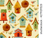 Multi Colored Birdhouses And...