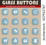 billiards web icons for user... | Shutterstock .eps vector #427931767