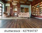 Luxury Interior Of Home Librar...