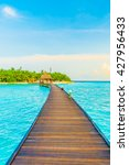 beautiful tropical maldives... | Shutterstock . vector #427956433