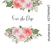 watercolor rose bouquets. great ... | Shutterstock . vector #427969447