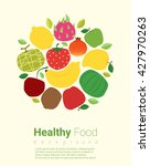 healthy food background with... | Shutterstock .eps vector #427970263