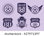 different logos and icons... | Shutterstock .eps vector #427971397