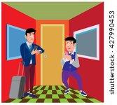 businessman illustration in the ... | Shutterstock .eps vector #427990453