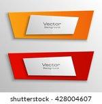 origami paper infographic... | Shutterstock .eps vector #428004607