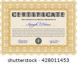 certificate template eps10 jpg... | Shutterstock .eps vector #428011453