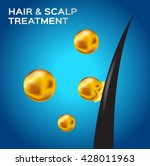 hair   scalp treatment vector ...   Shutterstock .eps vector #428011963