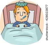 Illustration Of A Man Lying...