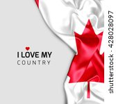 canada abstract waving flag and ... | Shutterstock . vector #428028097
