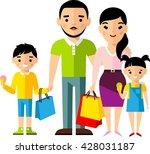 shopping concept with european... | Shutterstock .eps vector #428031187
