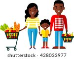 shopping concept with  african... | Shutterstock .eps vector #428033977