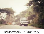 blurred of car on road | Shutterstock . vector #428042977