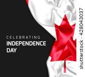 celebrating canada independence ... | Shutterstock . vector #428043037