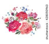 Vintage Floral Watercolor...