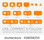 vector like  follower  comment... | Shutterstock .eps vector #428058253