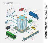 isometric transport... | Shutterstock .eps vector #428061757