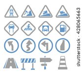 road sign  symbol road icon set | Shutterstock .eps vector #428065663