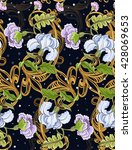 floral ornament with baroque... | Shutterstock .eps vector #428069653