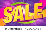 sale. clearance card. discounts ... | Shutterstock .eps vector #428071417