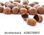 fresh chestnuts isolated on... | Shutterstock . vector #428078893