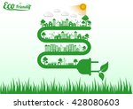ecology connection electrical... | Shutterstock .eps vector #428080603