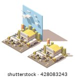 vector isometric icon or... | Shutterstock .eps vector #428083243