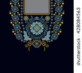 vector design for collar shirts ... | Shutterstock .eps vector #428084563