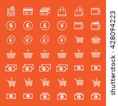 e commerce icon set | Shutterstock .eps vector #428094223