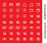e commerce icon set | Shutterstock .eps vector #428094343
