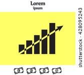 vector growing graph icon   Shutterstock .eps vector #428095243