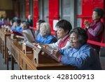 taipei  taiwan   mar 2015  a... | Shutterstock . vector #428100913