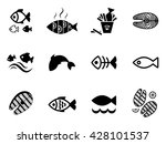 fish vector seamless pattern or ... | Shutterstock .eps vector #428101537