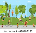 children and adults involved in ... | Shutterstock .eps vector #428107153