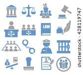 attorney  court  law icon set | Shutterstock .eps vector #428119747