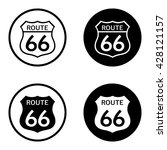 route 66 sign set in circle .... | Shutterstock .eps vector #428121157