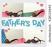 happy father s day greeting... | Shutterstock .eps vector #428124643