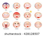 funny expression emoticons of... | Shutterstock .eps vector #428128507