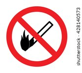 prohibition for matches black...   Shutterstock .eps vector #428140573
