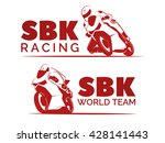 set of racing motorcycle logo... | Shutterstock .eps vector #428141443