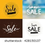 summer sale set. drawn... | Shutterstock .eps vector #428150137