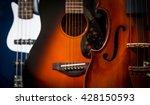 violin  acoustic guitar  ... | Shutterstock . vector #428150593