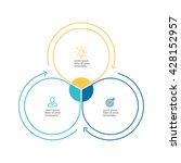 outline circular infographic.... | Shutterstock .eps vector #428152957