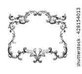 vintage baroque ornament. retro ...   Shutterstock .eps vector #428154013